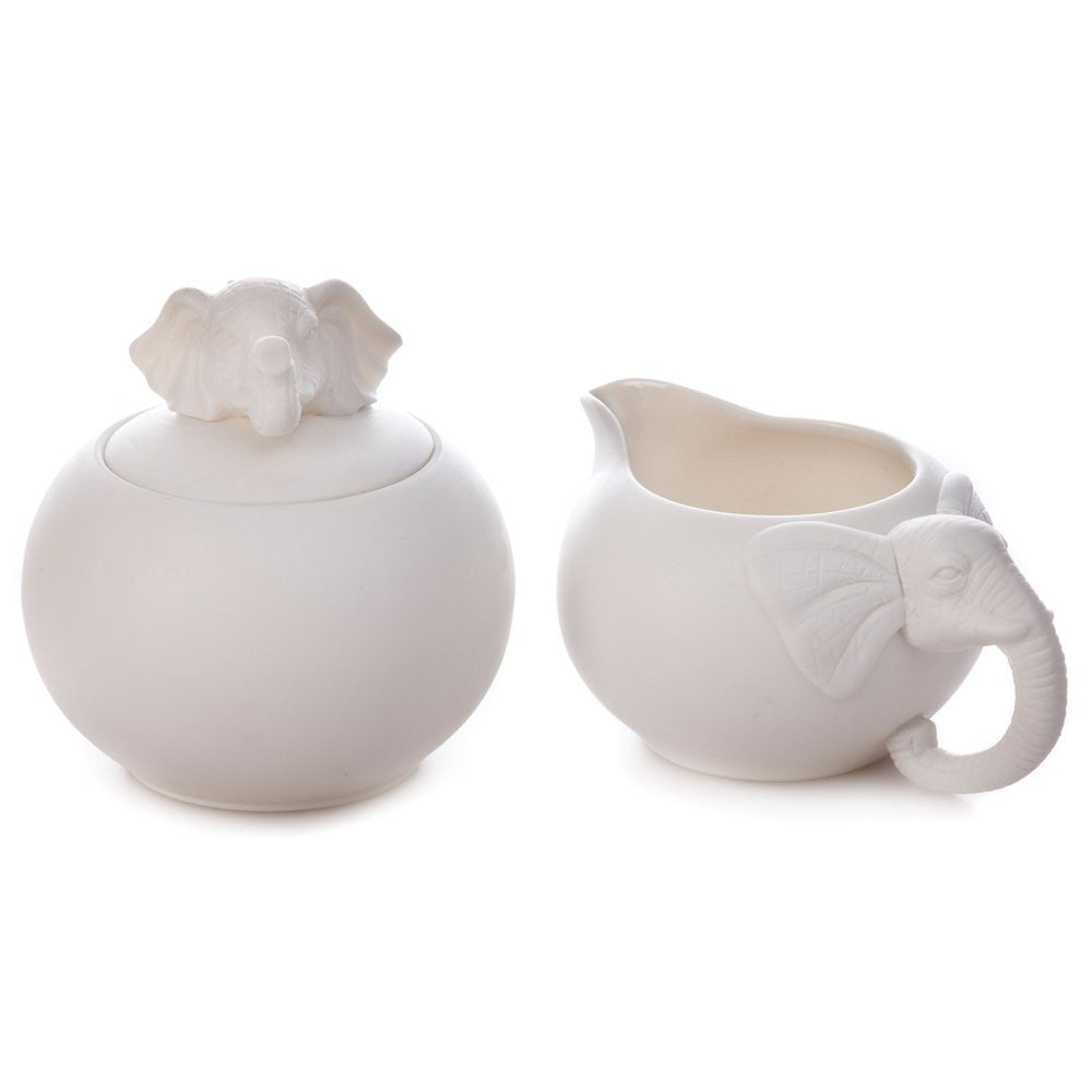 Savanna Elephant Milk Jug & Sugar Bowl