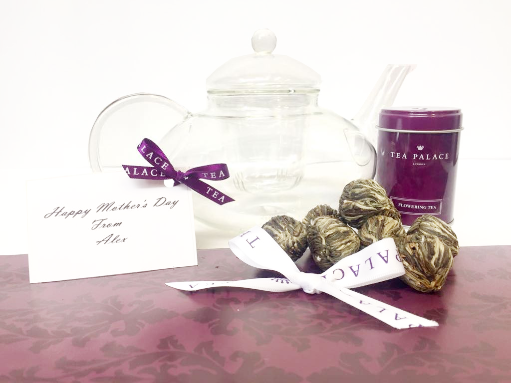 Flowering Tea Gift Set with Personalised Card