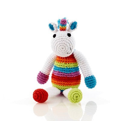 BEST YEARS Rainbow Crochet Unicorn Rattle