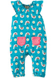 FRUGI Dory Gathered Playsuit, Llama Leap