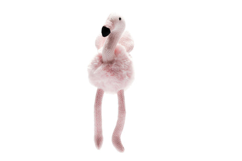 Best Years Knitted Flamingo Rattle