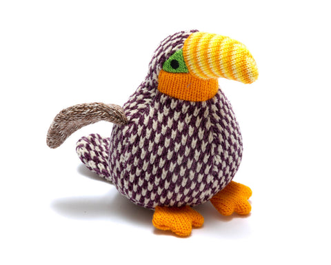 BEST YEARS Mini Knitted Bennie Toucan Rattle