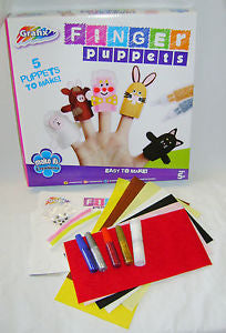 GRAFIX Finger Puppets. 5 puppets to make.