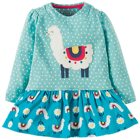 FRUGI Llama Hetty Hotch Potch Dress