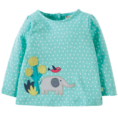 FRUGI Connie Applique Top, Elephant