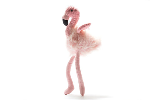 BEST YEARS Knitted Flamingo Toy