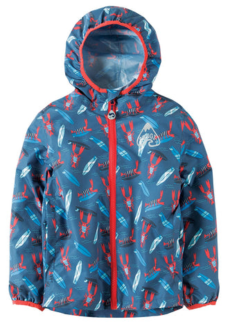 FRUGI Puddle Buster Packaway Jacket, Hang Ten