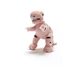 BEST YEARS Knitted T-Rex Rattle/ Pink