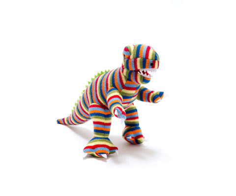 BEST YEARS Knitted T-Rex/Mini Multi Stripe