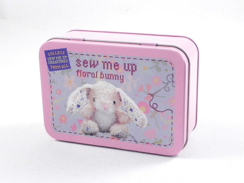 GIFT IN A TIN Sew Me Up/Floral Bunny