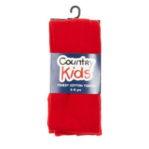 COUNTRY KIDS Pima Cotton Tights Red