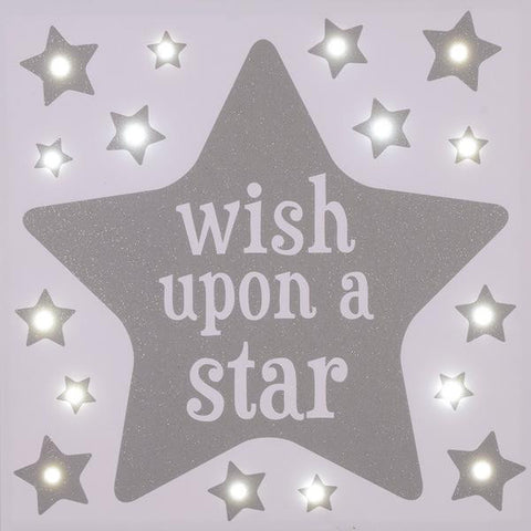 FLOSS & ROCK LED Canvas/Wish Upon a Star