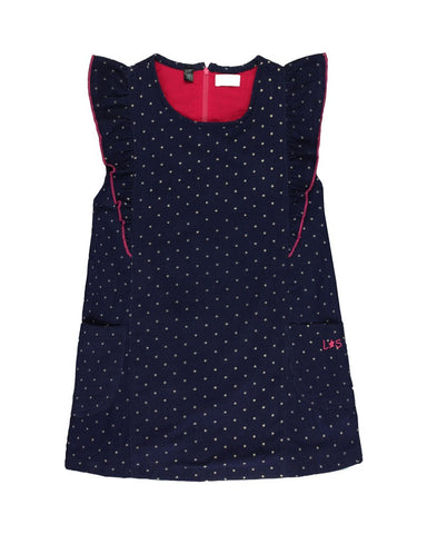 LILLY + SID Frill Shoulder Dotty Cord