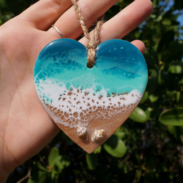 Heart Ornament -  Shell Beach 1