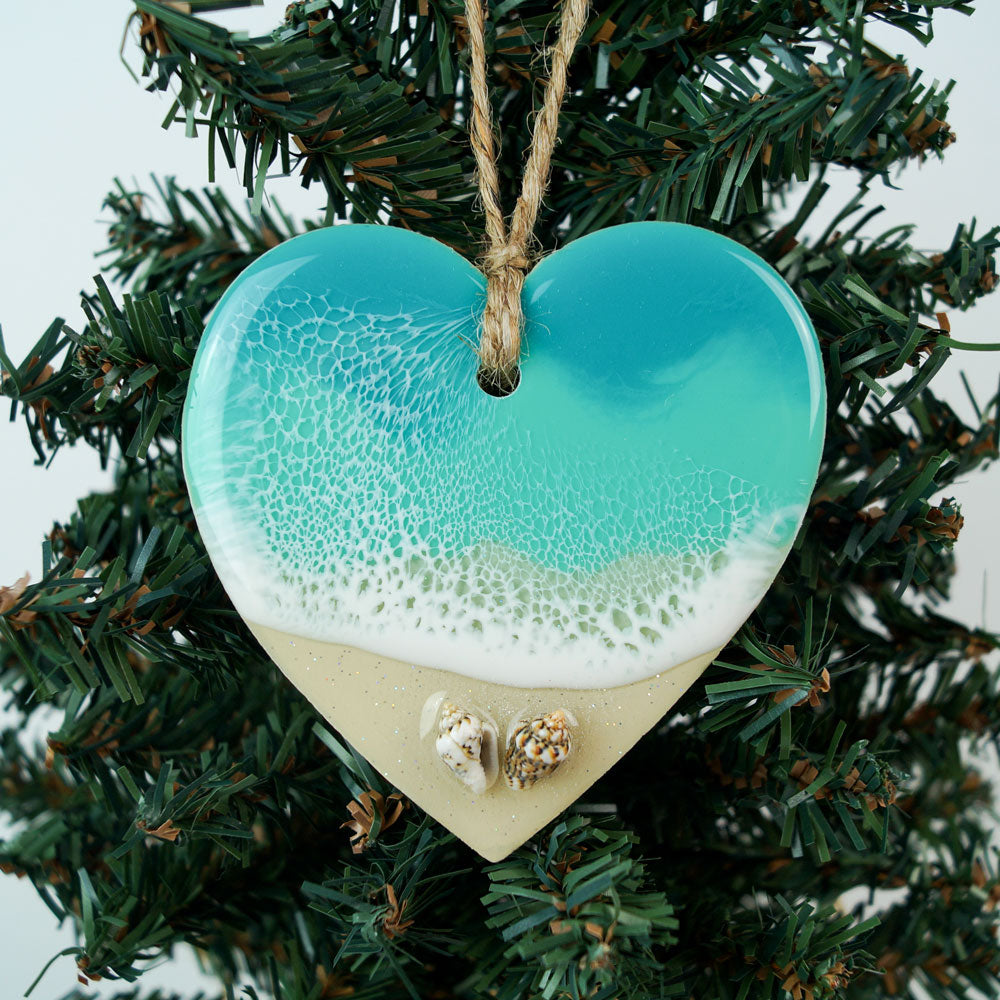 Heart Ornament -  Shell Beach 2