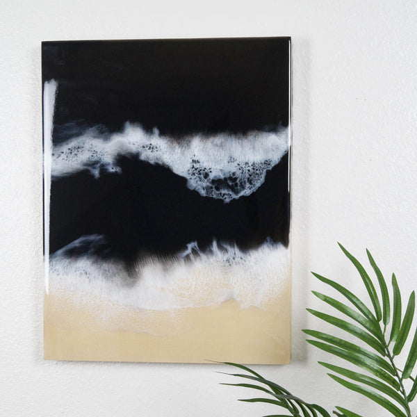 "Resin Artwork 18"" x 14"" - Dark Seas"