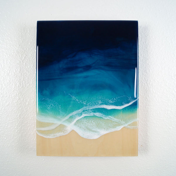 "Resin Artwork 9"" x 12"" - The Ocean's Calling"