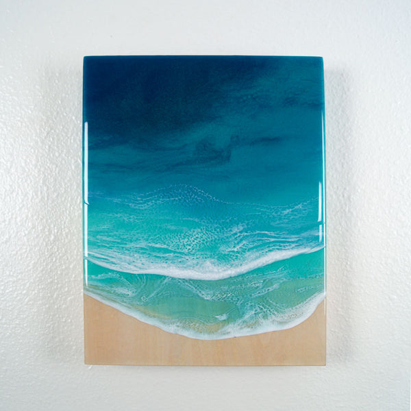 "Resin Artwork 9"" x 12""- Rising Tide"