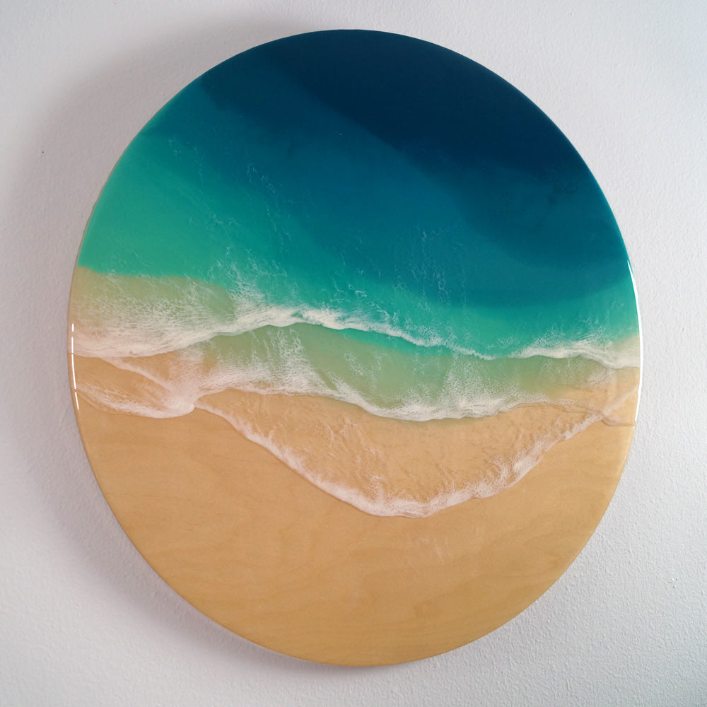 "Resin Artwork 24""- At Peace"