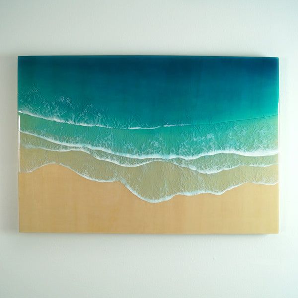 "Resin Artwork 36"" x 24""- Paradise Found"