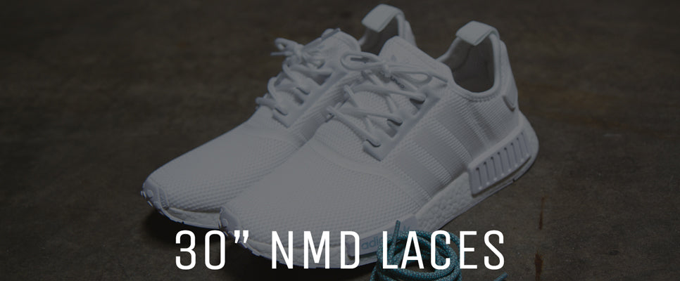"Our 30"" NMD Laces are the perfect length for Adidas NMDs! Get rid of those extra long factory laces, and try our perfect fitting NMD laces!"
