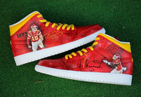 Kansas City Chiefs Custom Jordan 1 Mid