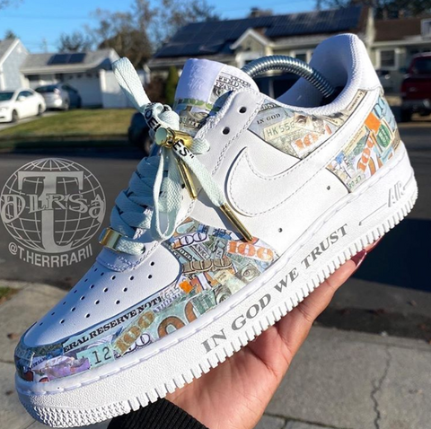 Air Force 1 Money-Themed Customs