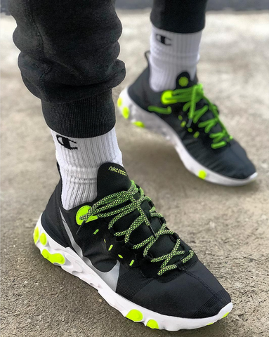 Green Nike React Lace Swap