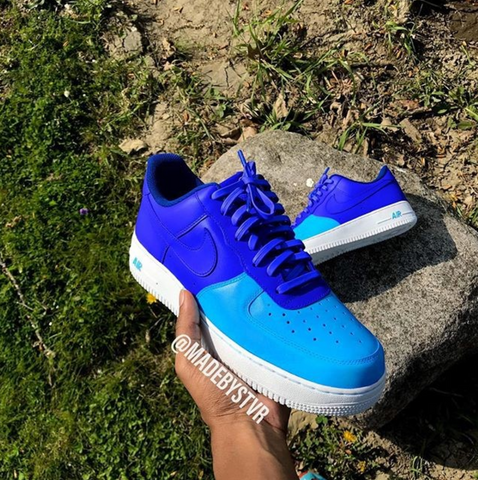 Blue Custom Air Forces