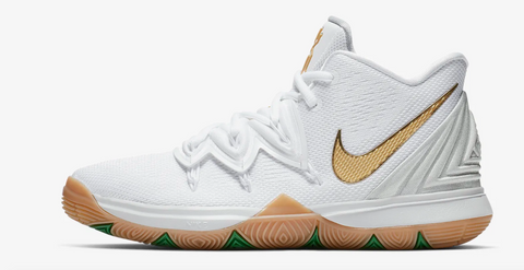 Kyrie 5 White/Gold/Green