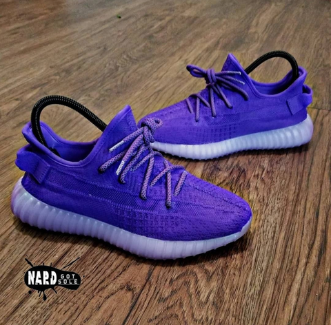 Purple Yeezys