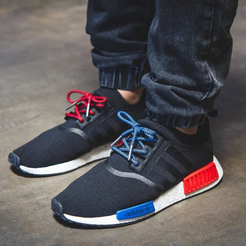 Red and Blue Adidas NMD