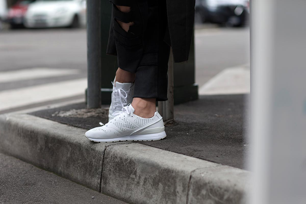 6a825a94b995eb It s no secret that a pair of crisp white sneakers are a summer wardrobe  staple. You don t have to just wear white sneakers though