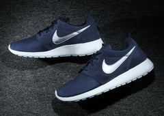 """online store 52773 d95db ... times you might look down at your Roshe s (like these blue and obsidian  Suede joints from 2014) and think, """"I could use some different laces on  these."""""""