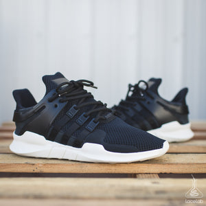 "Solid Black Rope Laces - 54"" Length on Adidas ADV EQT"