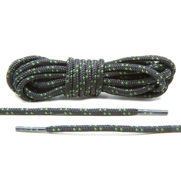 Black/Hunter Green Boot Laces