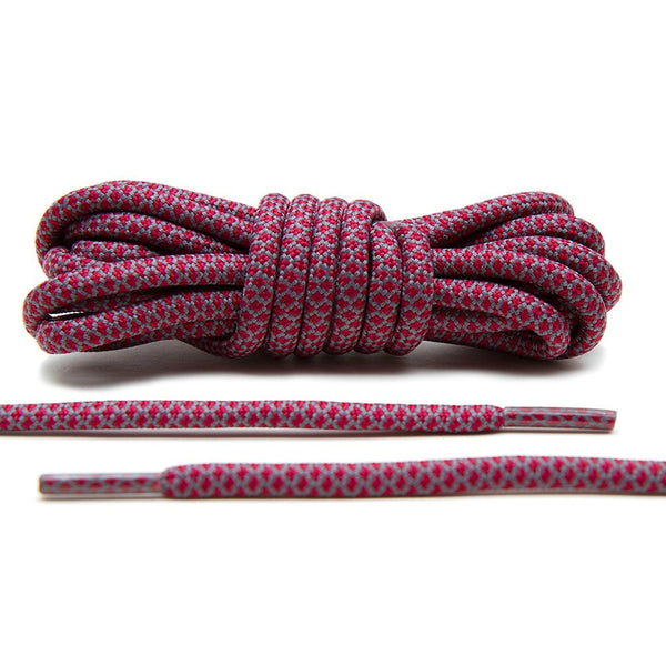 Burgundy/Grey Rope Laces