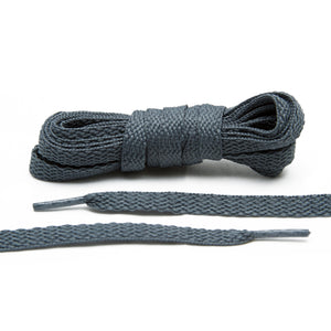 Lace Lab's dark grey shoes laces are a must for your sneaker collection.