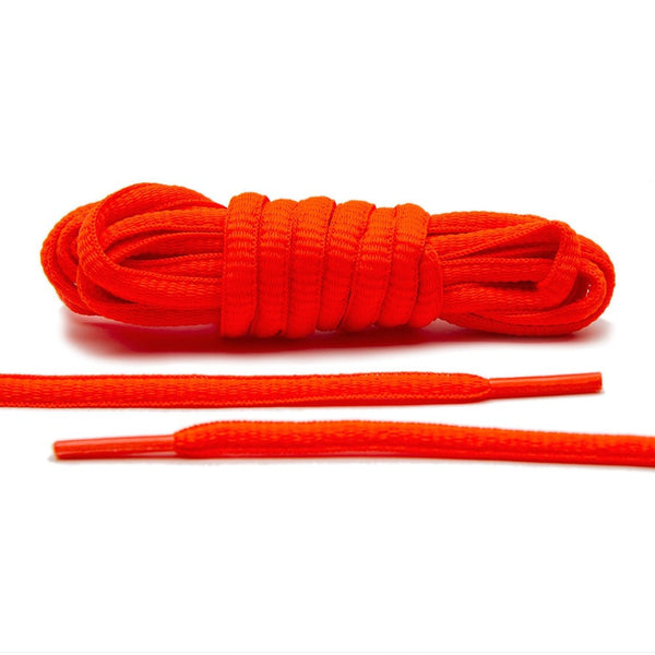 Flaming Orange - Thin Oval Laces