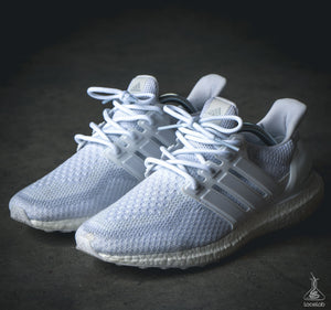 Lace Lab White Rope Laces on Adidas Ultra Boost - 41""