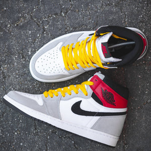 Air Jordan 1 Light Smoke Grey w/ Lace Lab Gold Shoe Laces - 54""
