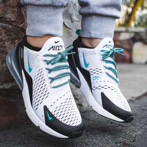 Airmax 270 lace swapped with Lace Lab Black/Mint Rope Laces - 36""