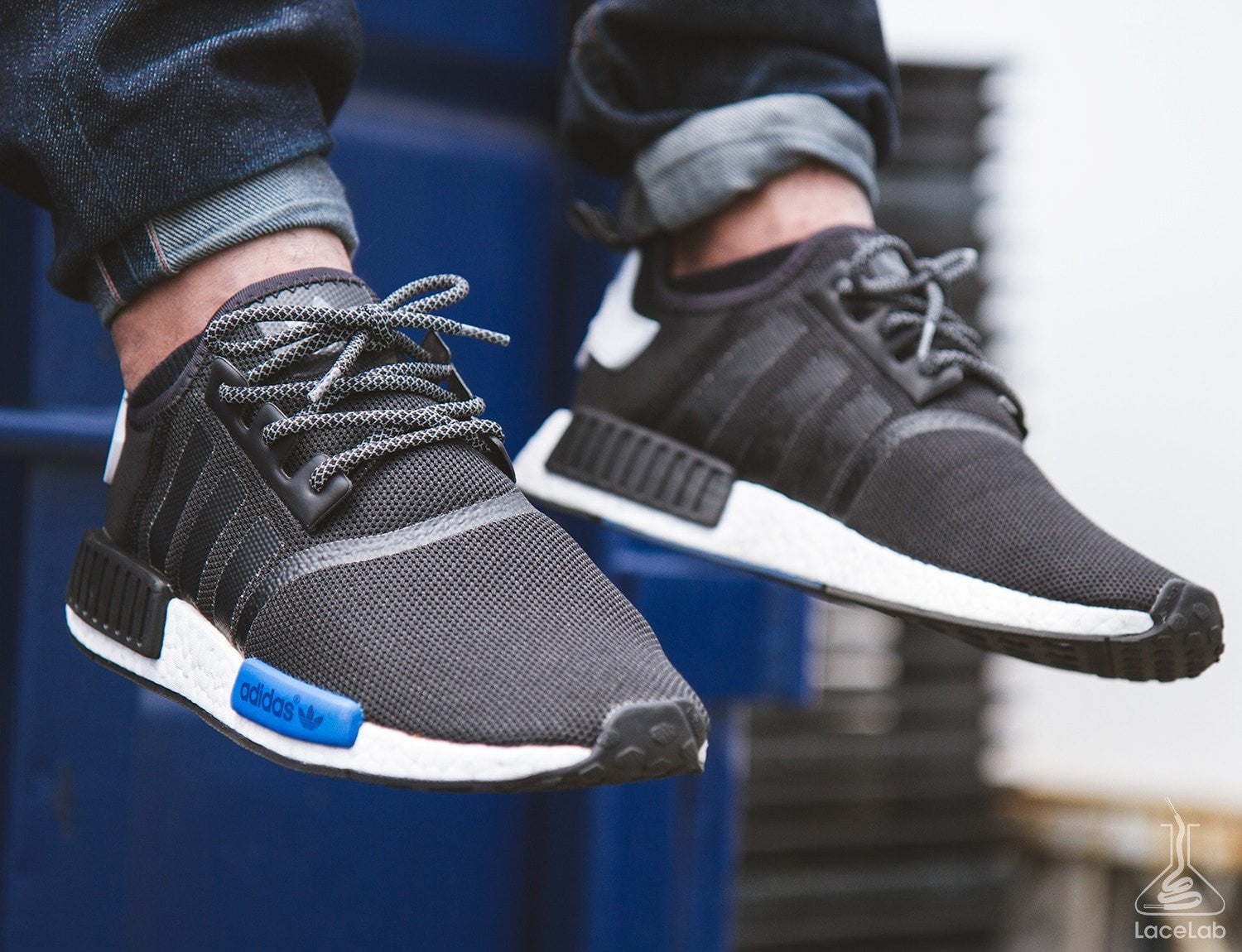 21638771333ad Black 3M Reflective Rope Laces on Adidas NMD - 36