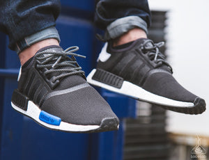 "Black 3M Reflective Rope Laces on Adidas NMD - 36"" Lace Length"