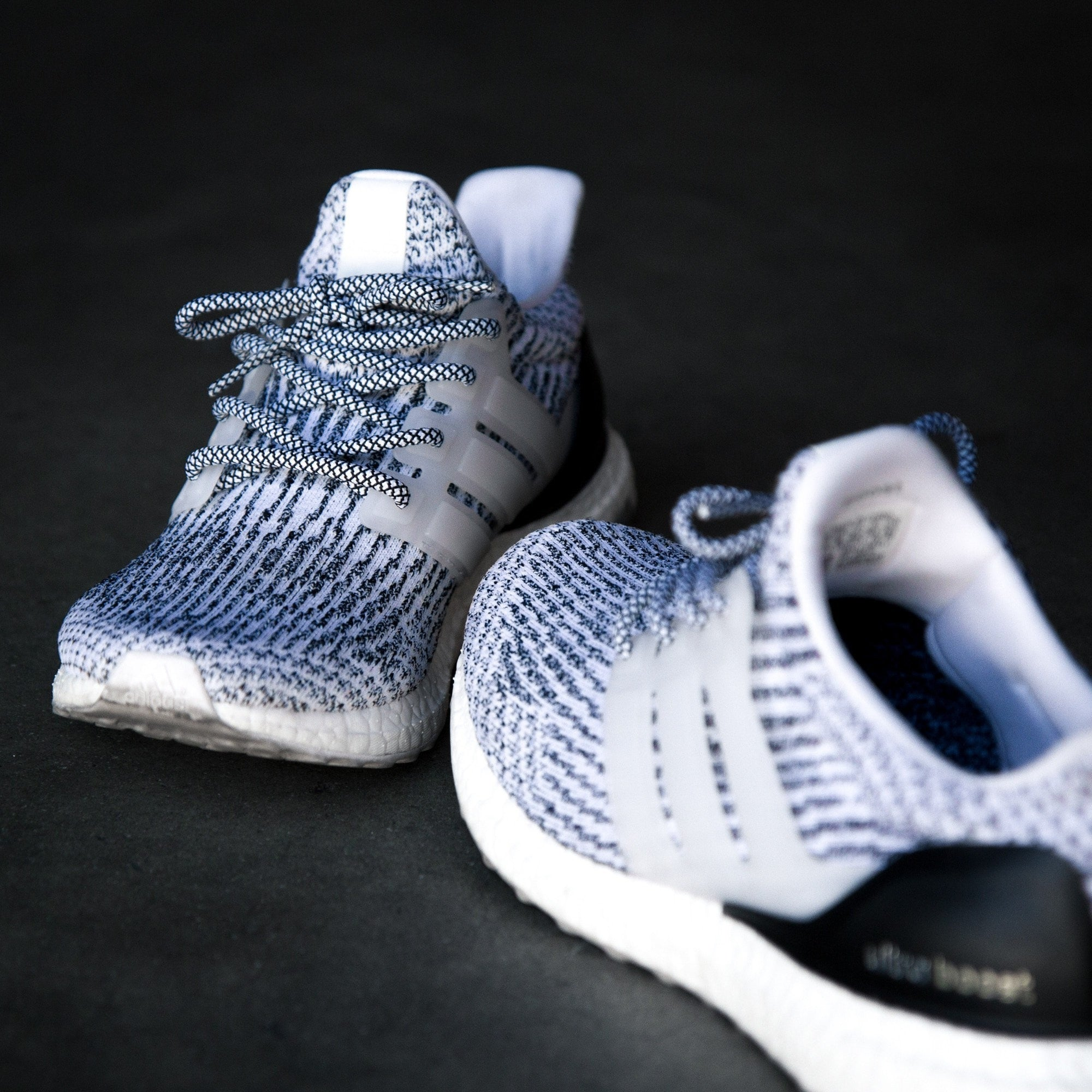 BlackWhite Rope Laces | Lace Lab | Yeezy Rope Laces | NMD Laces