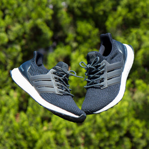 Lace Lab Black 3M Laces on Adidas Ultra Boost - 41""