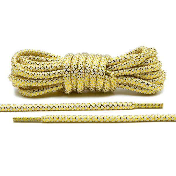 Metallic Gold/White Rope Laces