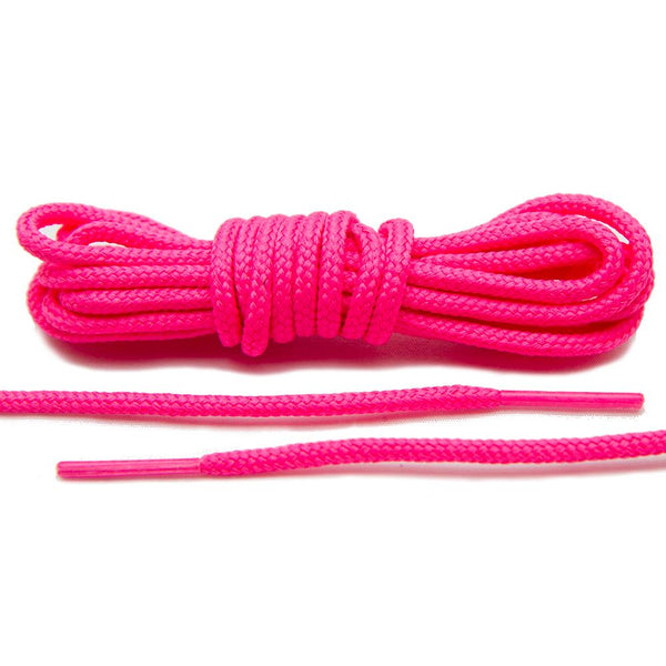 Add a bolt of color to your Jordan's with our Neon Pink Roshe-Style Laces.