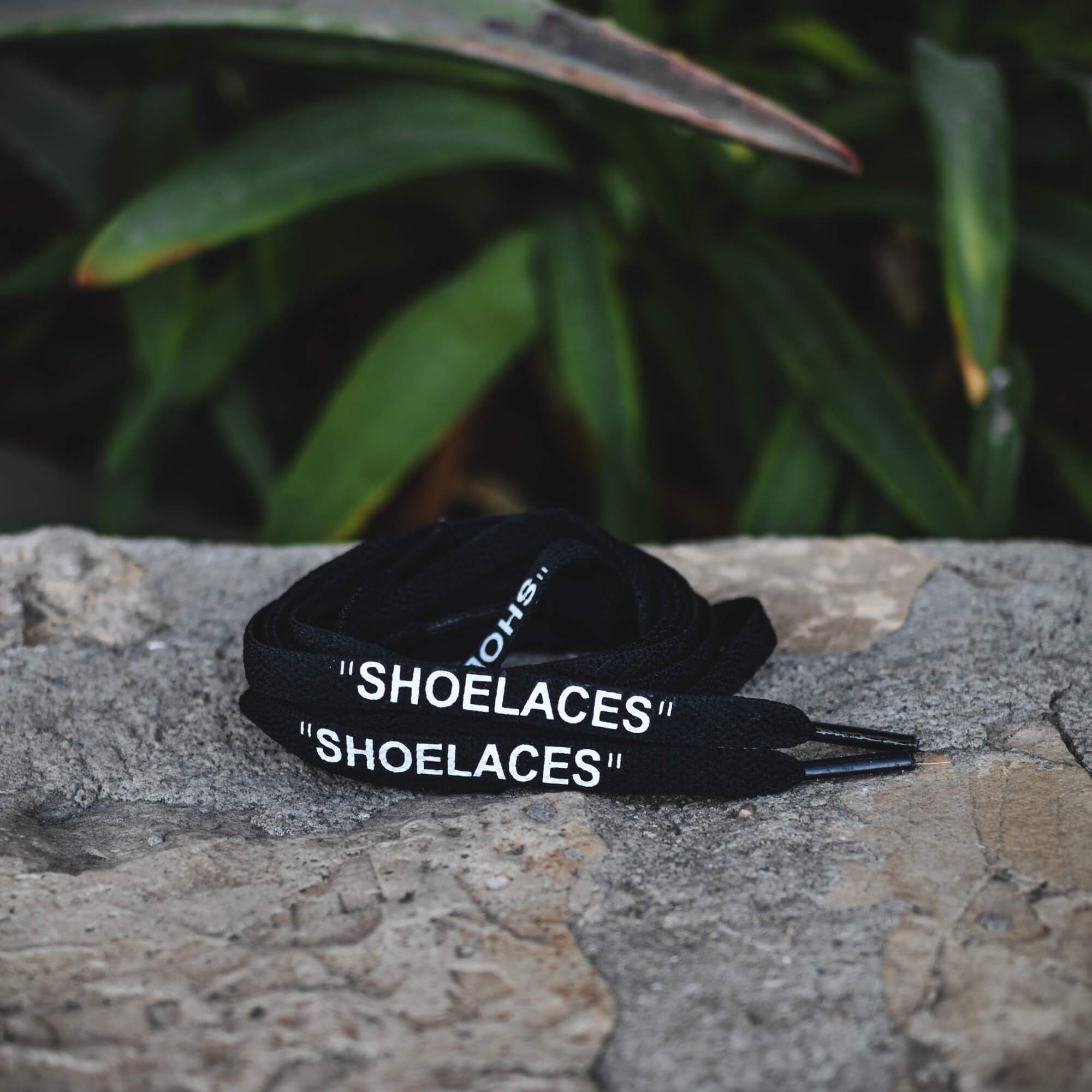 """Off-White """"SHOELACES"""" Replacement White black Flat Laces 45 inches lace sneaker"""