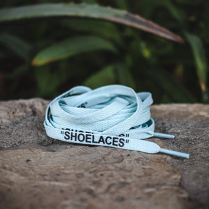 Off-White Replacement Shoe Laces - Light Blue - By Lace Lab - $4.99